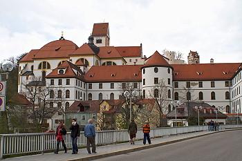 Hohes Schloss von Füssen mit Altstadt